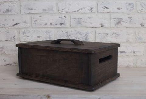Ящик из темного ясеня для чая и сладостей