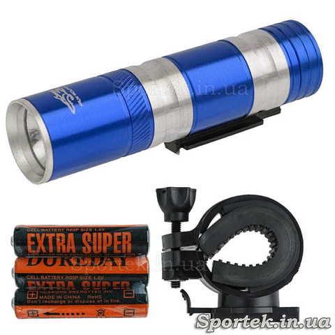 Передний съемный велосипедный фонарь wolFBase TQ-L48 для велосипедистов (синий)
