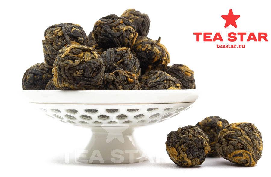 """Черный чай """"Черные Жемчужины Дракона"""", Хэй Лунг Чжу, 50 гр. Cherny_Zhemchug.jpg"""