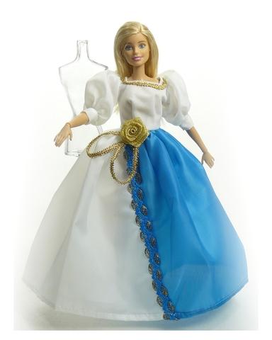 Платье двуцветное - На кукле. Одежда для кукол, пупсов и мягких игрушек.