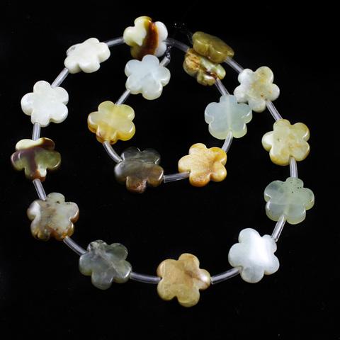 Бусины оникс Цветочек 15 мм 1 бусина