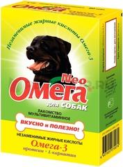 Омега Neo L- кератин витамины для собак 90 таб.