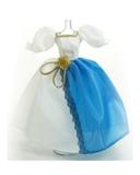Платье двуцветное - Голубой. Одежда для кукол, пупсов и мягких игрушек.