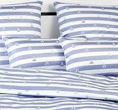 Постельное белье 1 спальное Elegante Portlane синее