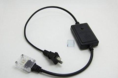 Вилка сетевая для шланга светодиодного квадратного плоского дюралайта LED