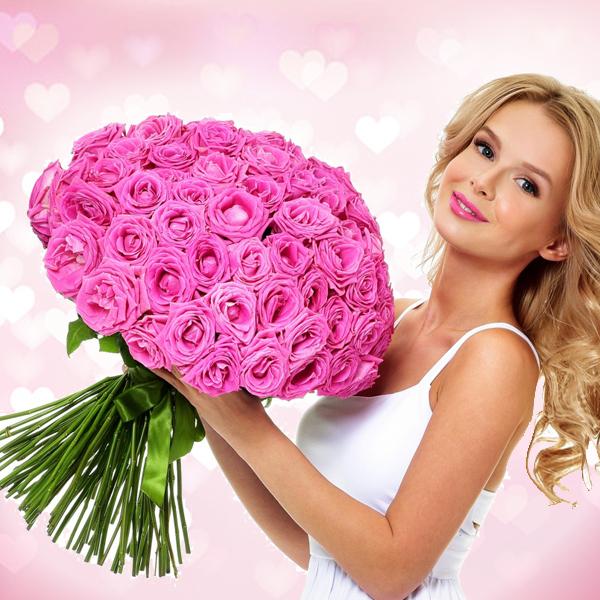 Купить букет розовые розы Аква в Перми