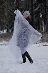 Оренбургский пуховый платок 70 фото 2