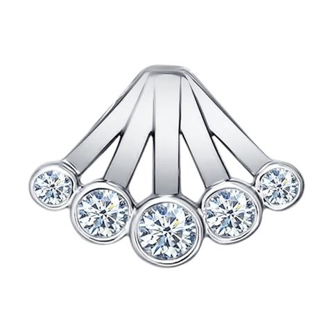 Подвеска «Зимняя Вишня» из серебра с фианитами