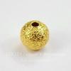 """Бусина """"Сахарный шарик"""" 8 мм (цвет - золото), 10 штук"""