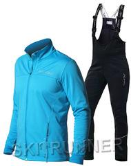 Утеплённый лыжный костюм Nordski Motion Breeze/Black с высокий спинкой мужской