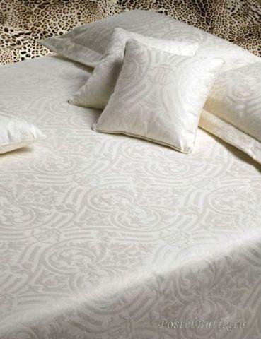 Постельное белье 2 спальное евро макси Roberto Cavalli Damasco белое