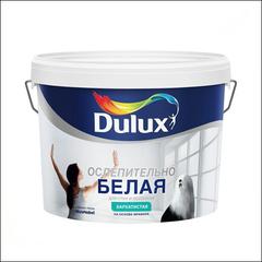 Краска для стен и потолка Dulux (белая бархатистая)