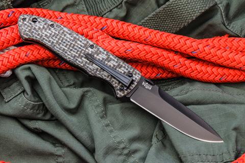 Складной нож Vega 440C Black Titanium