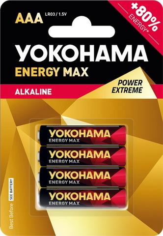 Батарейки Yokohama Energy Max LR03, AAA (4/40/200) BL