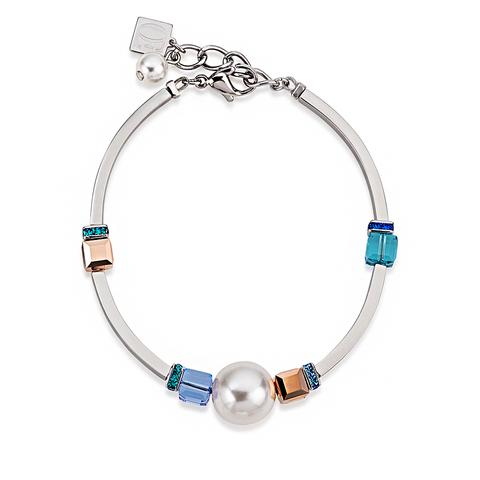 Браслет Coeur de Lion 4803/30-0700 цвет белый, голубой