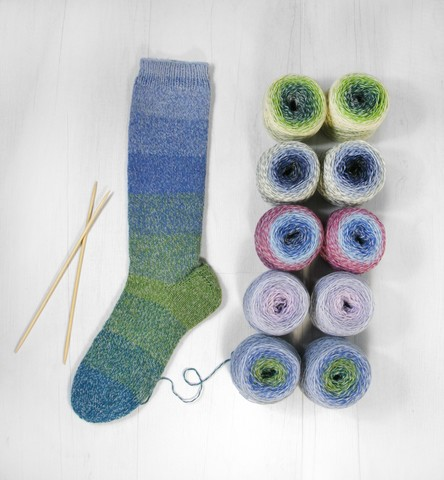 Flotte Socke Regenbogen 1394