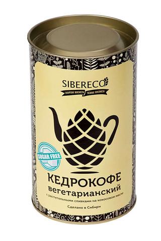 Кедрокофе Вегетарианский на растительных сливках (без сахара), тубус 500г