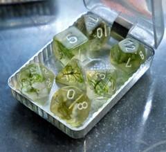 Крафтовые кубы – Зелёный с белым