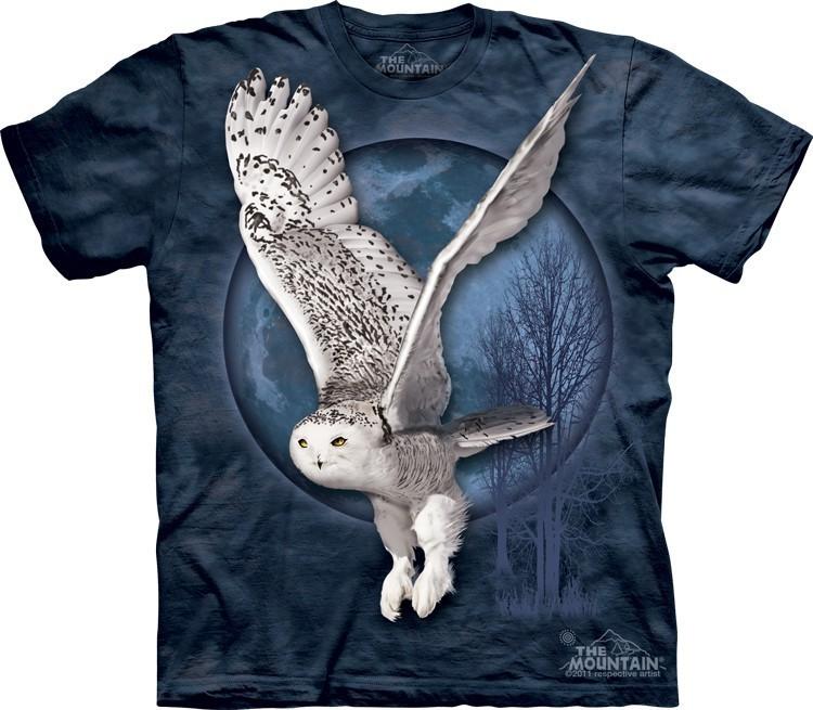Футболка Mountain с изображением полярной совы - Snow Owl Moon
