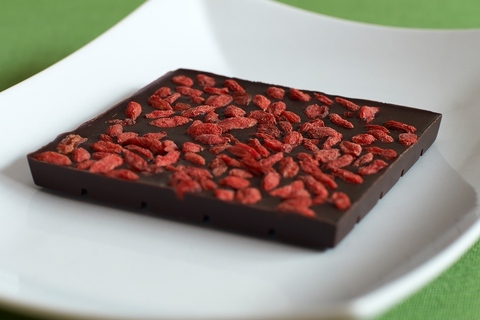 Шоколад с ягодой годжи Дальневосточный, вид сзади