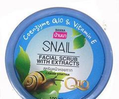 Скраб для лица с муцином улитки, коэнзимом Q10 и витамином Е BANNA