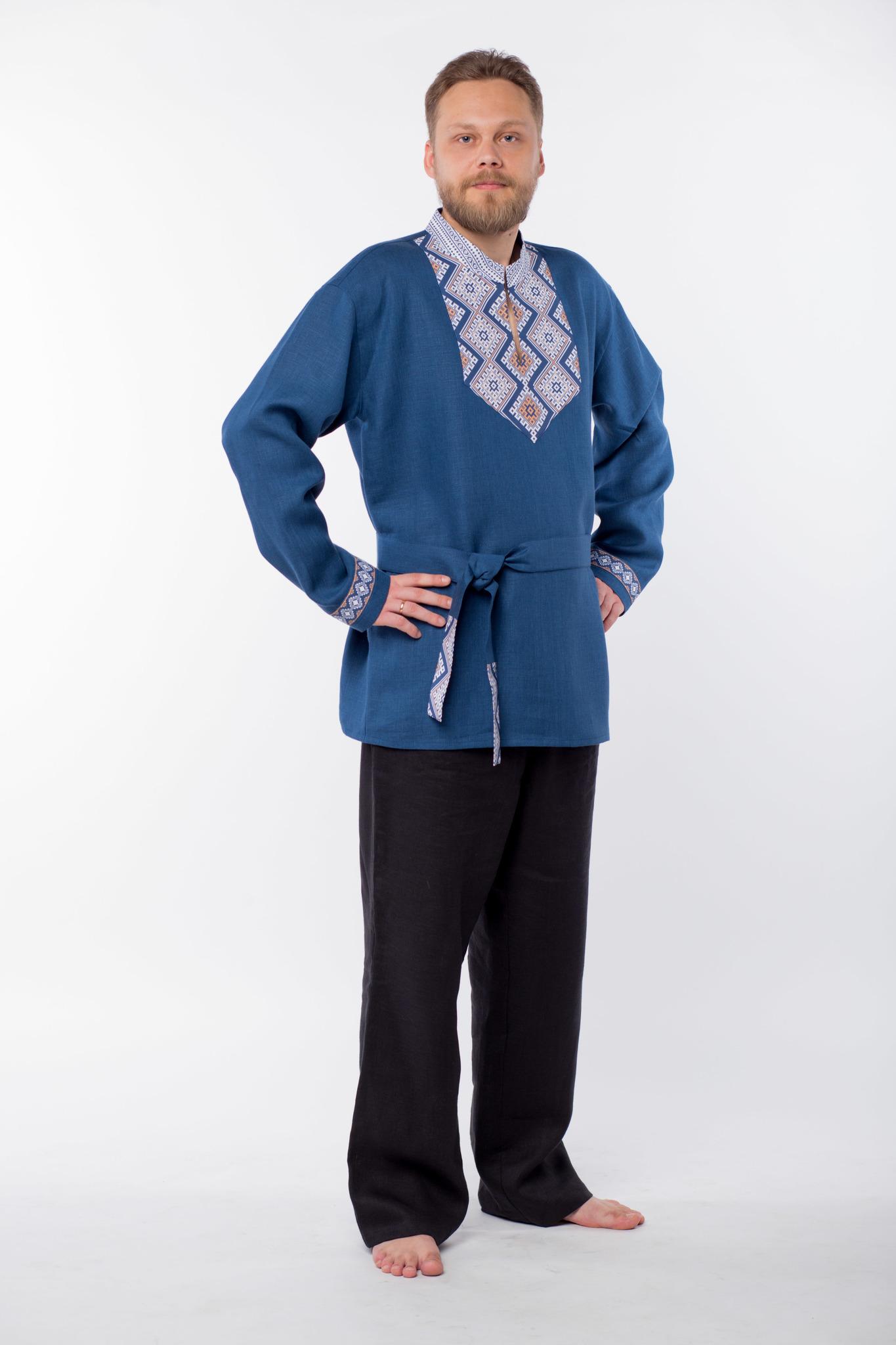 Рубаха мужская Алтайская вид сбоку