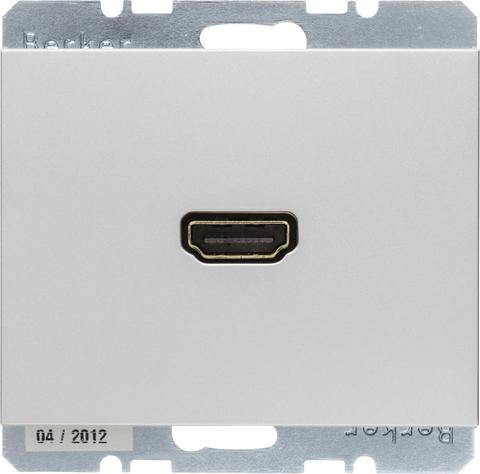 Розетка HDMI-CABLE. Цвет Алюминий. Berker (Беркер). K.5. 3315437003. Цвет Алюминий. Berker (Беркер). K.5. 3315437003