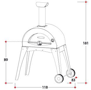 Печь дровяная CIAO (Alfa Refrattari)