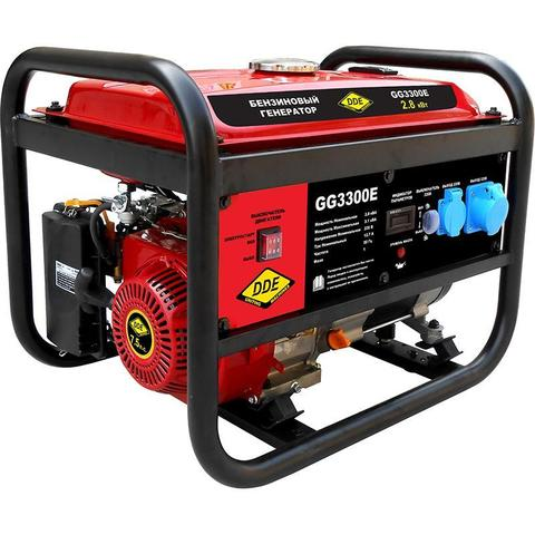 Генератор бензиновый DDE GG3300E (Эл.Стартёр, 1ф ном/макс.  2,8/3,1 кВт, UP170, т/бак 15л,  46.5кг)