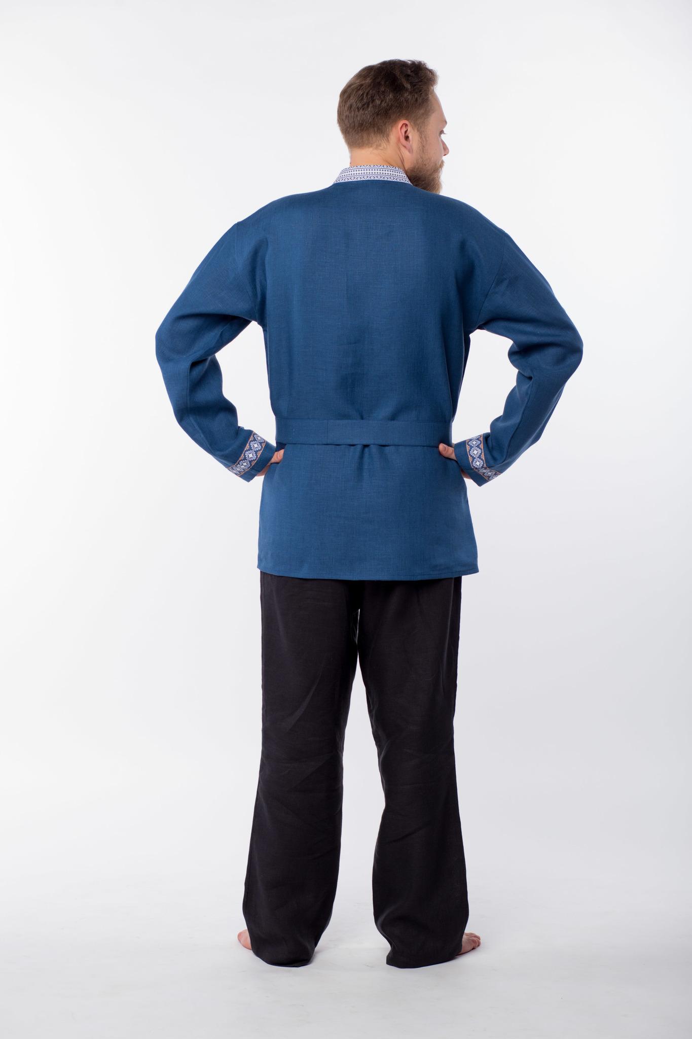 Рубаха мужская Алтайская вид сзади