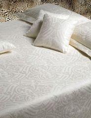 Постельное белье 2 спальное евро макси Roberto Cavalli Damasco кремовое