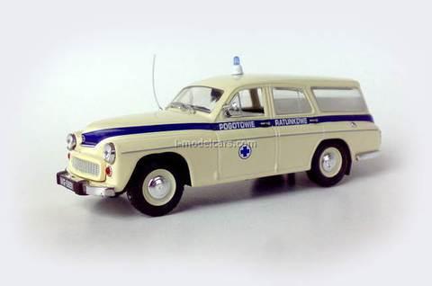 Warszawa 203 Kombi Ambulance 1:43 Kultowe Auta PRL-u