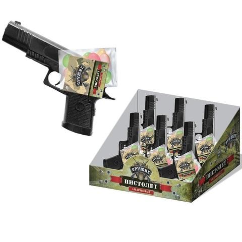 Мармелад жевательный в сах. глазури с игрушкой Пистолет  1кор*8бл*6шт, 10г.