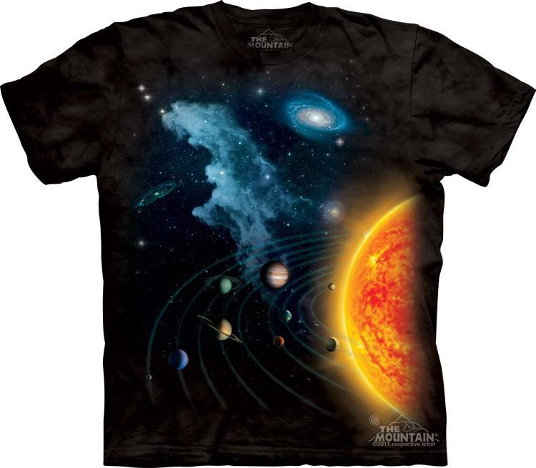 Футболка Mountain с изображением солнечной системы - Solar System