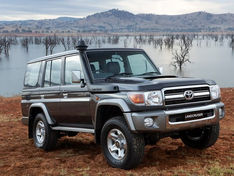 Защита фар для Toyota Land Cruiser 76 2007- прозрачная, 2 части, EGR (239250)