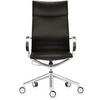 Офисное кресло Mercury HB, черная кожа/алюминий