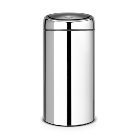 Мусорный бак Touch Bin (45 л), Стальной полированный, арт. 390821 - фото 1