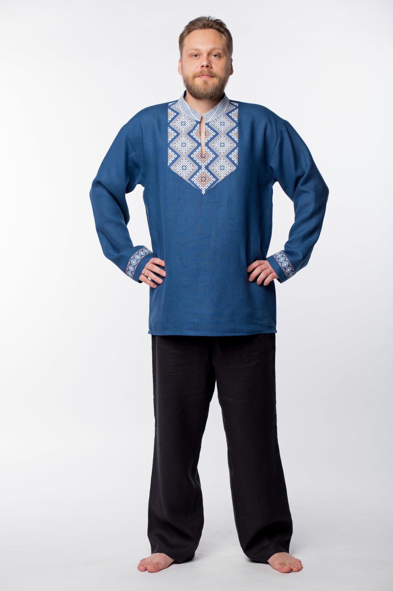 Рубаха мужская Алтайская  без пояса