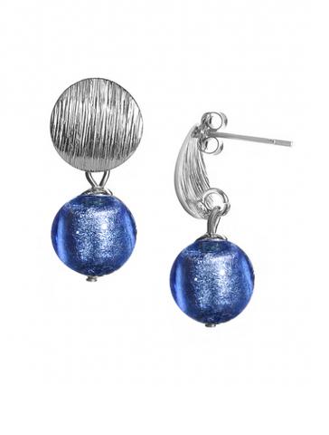Серьги 2019 Perla Metallo Silver Rotondo Sapfir