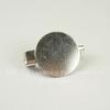 Основа для броши c круглой площадкой 15 мм, 20 мм (цвет - серебро)