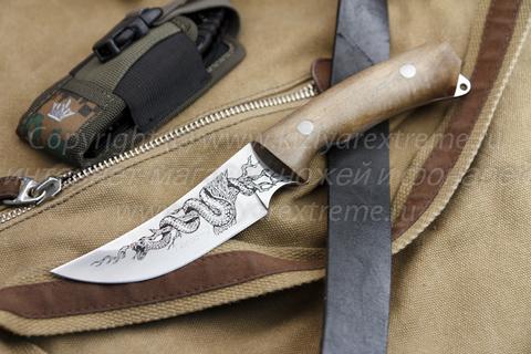 Охотничий нож Гюрза-2 z90 Полированный Орех Рисунок