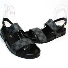 Модные мужские сандали Louis Vuitton 1008 01Blak.