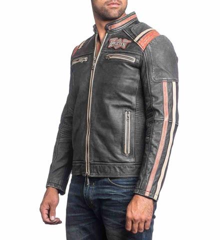 Куртка кожаная Affliction Speed Shop