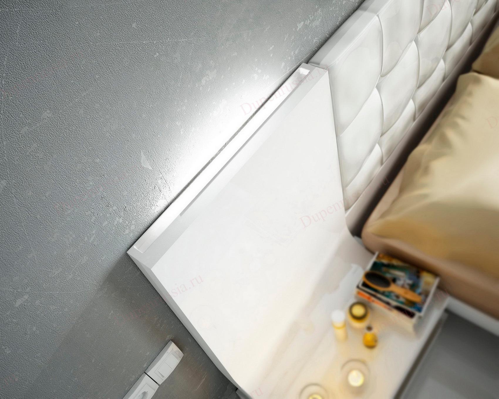 Кровать Fenicia Mobiliario 514 GRANADA белая с подсветкой