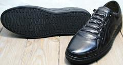 Сникерсы кеды с черной подошвой мужские на осень Novelty 5235 Black