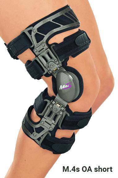 Бандажи и ортезы на коленный сустав с регулируемыми шарнирами Жесткие коленные ортезы для лечения остеоартрозов укороченные M.4s OA short m4s_oashort.jpg