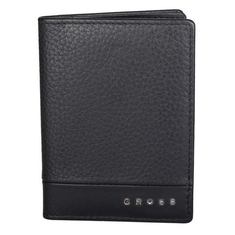 Обложка для кредитных карт, Cross Nueva FV, кожа наппа, фактурная, чёрный, 11 х 1 х 9 см