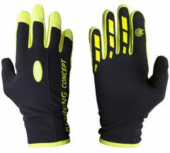 Перчатки Ray Классик черный-жёлтый