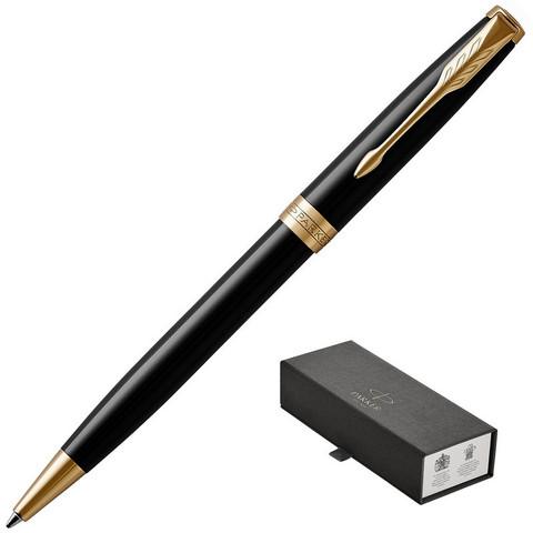 Ручка шариковая PARKER 2017 Sonnet Черный лак GT 1931497 черная., средняя