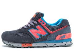 Кроссовки Женские New Balance 574 Grey Coral Blue